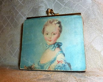 Carmel Collectibles Offers A Beautiful Wallet Coin Purse With An Antique Portrait Design Made In Italy Very Pretty