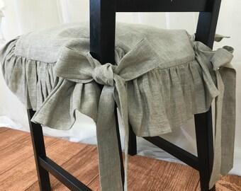 Ruffled Chair Pad Etsy