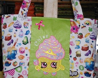 Large, Personalized Tote for a Girl with Zipper