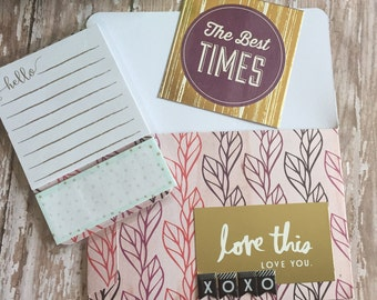 Planner Pocket Set w/Sticky Notes & project card