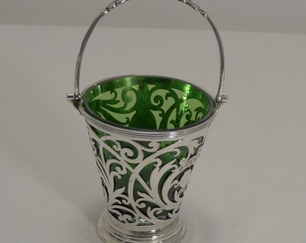 Fine Quality Victorian English Sterling Silver Basket - 1899