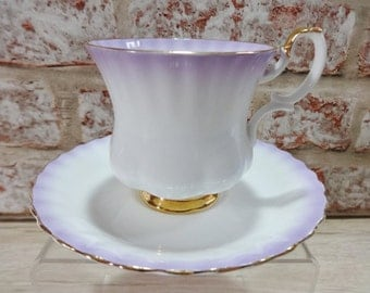 Royal Albert Rainbow purple Small Vintage Cup and Saucer