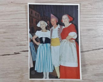 Vintage dress up fancy dress color photograph 1967 coloured photo