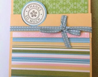 Handmade card- thank you card- thankful- grateful-thanks so much- flower card