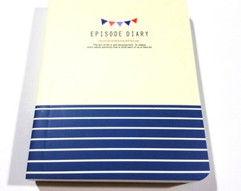 Soft Cover Episode Diary-Cute Mini Notebook Journal-150 Pages