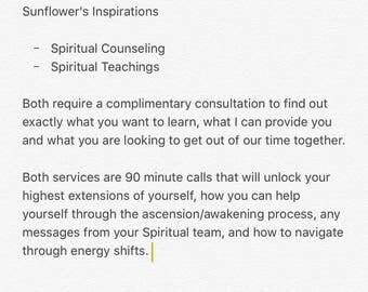 Spiritual Counseling & Teachings