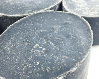 Sea Salt Soap Charcoal Soap Unscented Salt Soap Handmade Salt Soap Exfoliating Soap Facial Soap ACTIVATED CHARCOAL Salt Soap Spa Bar Soap