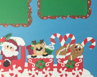 Christmas Santa premade Scrapbook pages