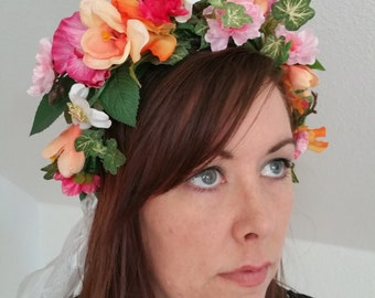 Colorful floral Crown