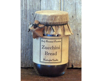 Primitive Candle, Country Candle, Rustic Candle, Zucchini Bread Scented Jar Candle