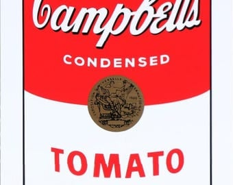 """Andy Warhol, after: """"Tomato Soup"""". Screenprint from the series """"Campbell's Soup I"""", published by Sunday B. Morning. Stamped in blue ink."""