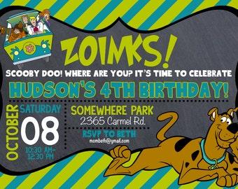 Scooby Doo Birthday Invitation