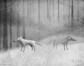 Crossroads - Art print by Lumimari