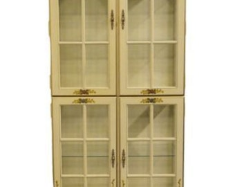 JASPER CABINET French Style Bisque & Gold Lighted Display Cabinet No. 327