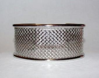 Sterling Silver Fish Net Cuff Bracelet
