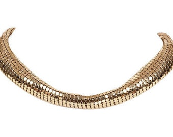 Lanvin Gold Mesh Necklace
