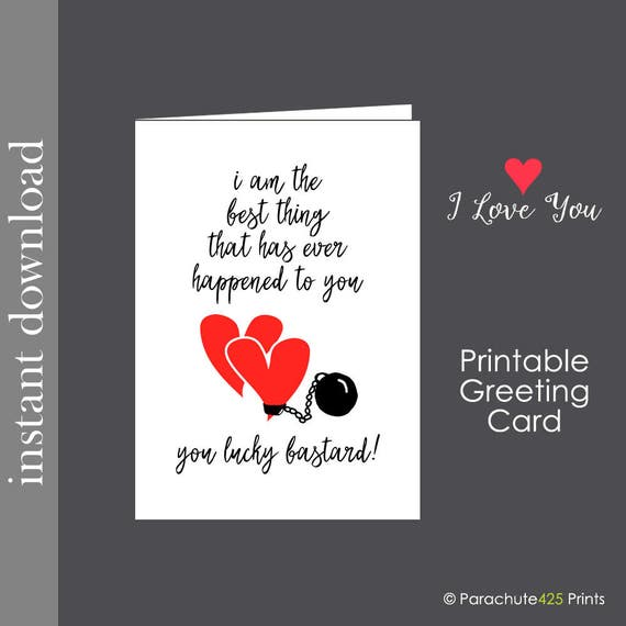 Anniversary For Him Anniversary Card Printable Card Funny