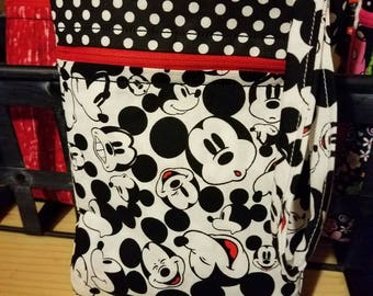 Large wristlet padded shopping Mickey Mouse