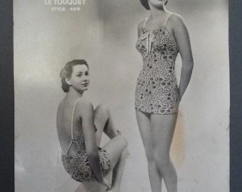 Vintage 1930s/30s 1940s/40s Jantzen PUBLICITY PHOTO Swimsuit Film Star