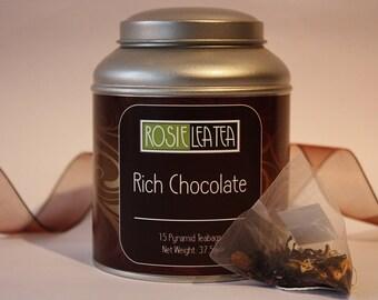 Rich Chocolate  Pyramid Teabags - Tea- Tea Gift - Teabags - Chocolate Tea