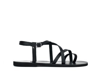 Men black sandals, Sandals, Leather sandals, Sandals for men, Greek sandals, Men shoes