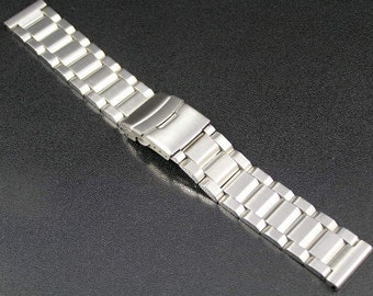 Super engineered solid stainless steel strap band for Omega Seamaster Speedmaster Planet Ocean watches