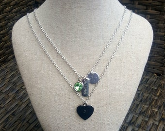 Layered Birthstone / Initial / Inspirational Necklaces