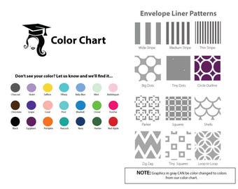 Envelope Liners for Graduation Announcements (sold in sets of 25) Assembly Required