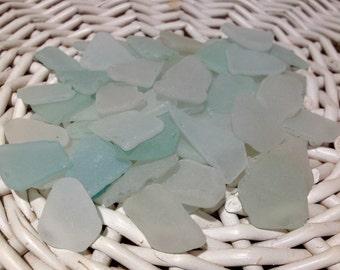 White Blue Sea Glass Pieces Frost Sea Glass Sea Glass Bulk White Blue  Sea Glass Blue Sea Glass Beach Sea Glass Weddings Sea Glass Set