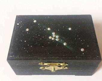 Taurus Jewelry Box Zodiac Jewelry Box Zodiac Keepsake Box Taurus Zodiac Sign Taurus Constellation Art Taurus Birthday Taurus Keepsake Box