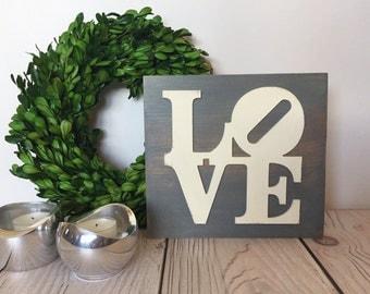 Love Decor - Rustic Signs - Love Sign - Rustic Home Decor - Farmhouse Decor - Wood Signs - Wall Art - Wood Love Sign - Love Sign Wood - Sign
