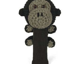 Hand Stitched Yarn Animal Driver/Wood Golf Head Cover - Gorilla