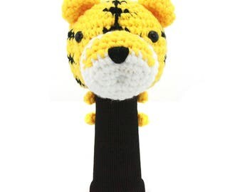 Hand Stitched Yarn Animal Driver/Wood Golf Head Cover - Tiger