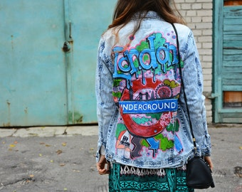 The Simpsons Jacket Jeans Oversized With Patches Denim Jacket