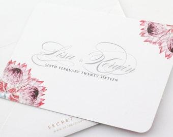 Protea Florish Invitation