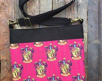 Harry Potter Gryffindor House Crest Messenger Bag/Cross Body Bag