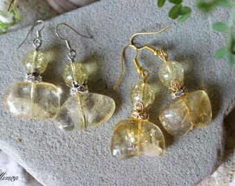 Citrine Earrings, Citrine Jewelry, Yellow Gemstone Earrings, Success Stone, Chakra Earrings, Solar Plexus Jewelry, Leo Zodiac Jewelry