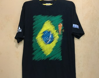 Vintage ADIDAS France '98 Soccer World Cup Licence Official T-Shirt