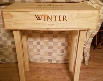 Wine Crate Side/StorageTable