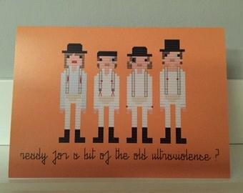 A Clockwork Orange blank greeting card