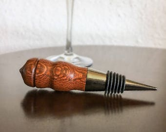Handmade Leopard Wood Wine Bottle Stopper, Bottle Stopper, Housewarming Gift, Hostess Gift, Wine Wedding Favor, Wine Gift