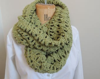 Lacy Sage Infinity Scarf
