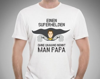 Männer T-Shirt Superheld Papa