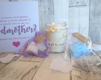 Will you be my Godmother Scented Candle Gift Set