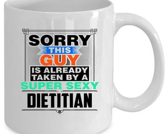 Dietitian white coffee mug. Funny Dietitian gift