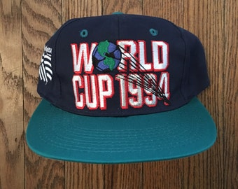 Vintage 90s World Cup 1994 Soccer Snapback Hat Baseball Cap