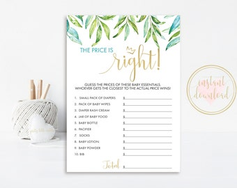 Where The Wild Things Are Baby Shower Game, The Price Is Right, Printable, Wild Things Baby, Price Is RIght Game, INSTANT DOWNLOAD, Max