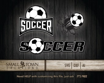Soccer bundle SVG [font and ball only] - Vinyl Cutters, Screen Printing, Silhouette, Die Cut Machines, & More