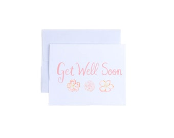 Get Well Soon Card - Feel Better Card, Sick, Get Well, Under The Weather Card