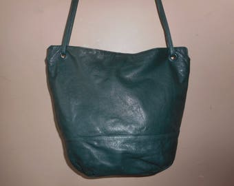 LARGE VINTAGE Etra 14.5 X 12 X 5 Leather Hobo/Tote